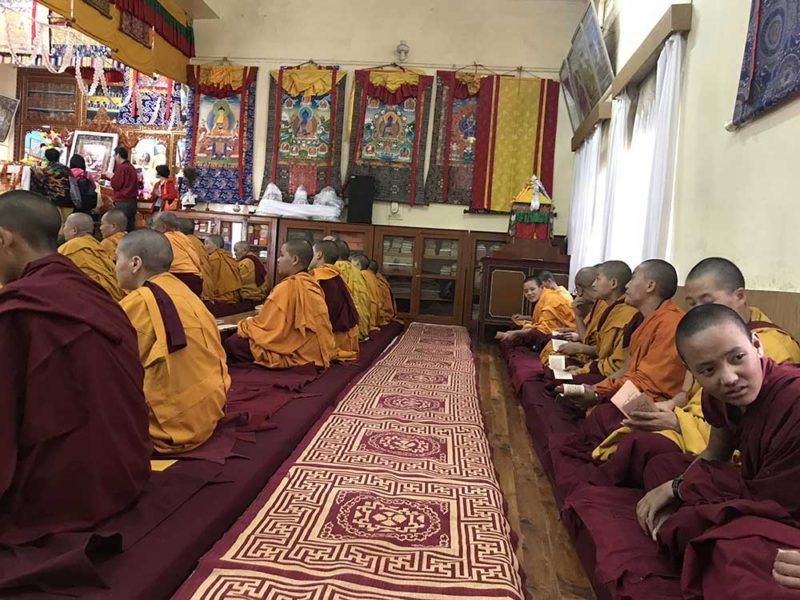 My buddhist experience Retreat tour Dharamshala October teachings buddhism