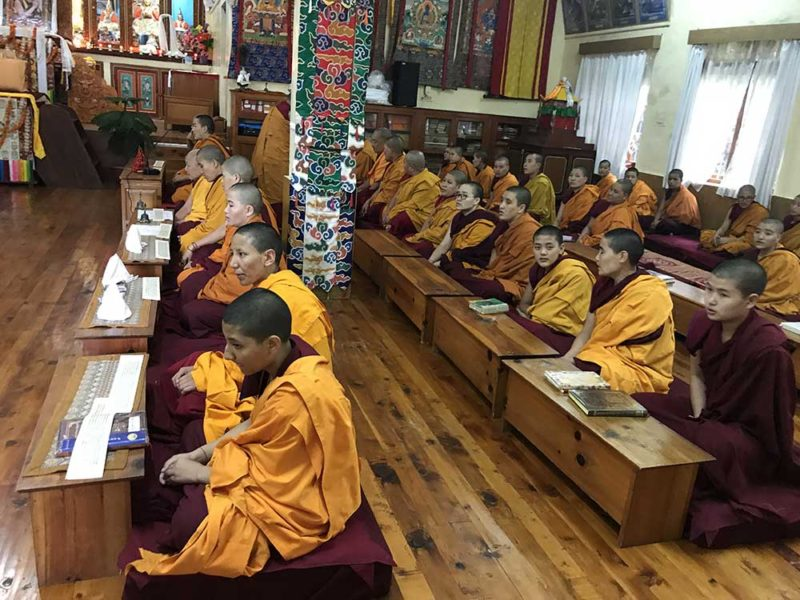 My buddhist experience Retreat tour Dharamshala October dalai lama